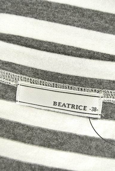 BEATRICE(ベアトリス)の古着「ボーダー柄フィットトップス(Tシャツ)」大画像6へ