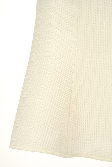 QUEENS COURT(クイーンズコート)の古着「膝上丈ワッフルフレアスカート(スカート)」大画像5へ