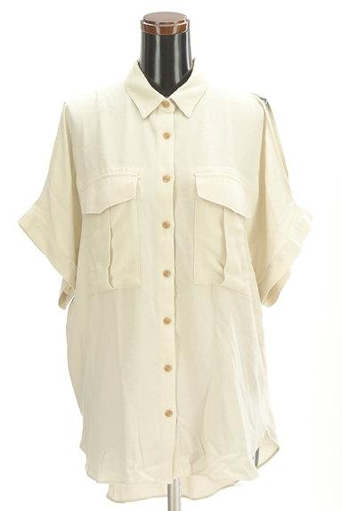 MOUSSY(マウジー)の古着「オープンショルダーワイドシャツ(カジュアルシャツ)」大画像1へ
