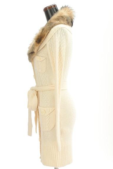 JILLSTUART(ジルスチュアート)の古着「ファー襟ロングカーディガン(カーディガン・ボレロ)」大画像3へ
