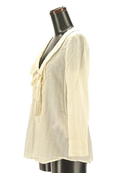 JILLSTUART(ジルスチュアート)の古着「ラメストライプ柄シアーブラウス(ブラウス)」大画像3へ