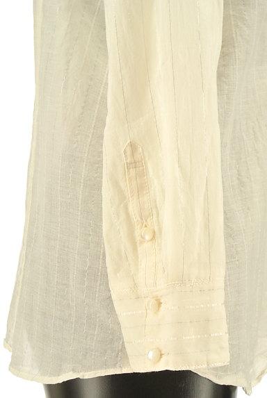JILLSTUART(ジルスチュアート)の古着「ラメストライプ柄シアーブラウス(ブラウス)」大画像5へ