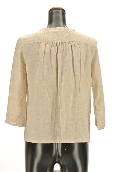 CUBE SUGAR(キューブシュガー)の古着「ナチュラル7分袖ブラウスシャツ(カジュアルシャツ)」大画像2へ