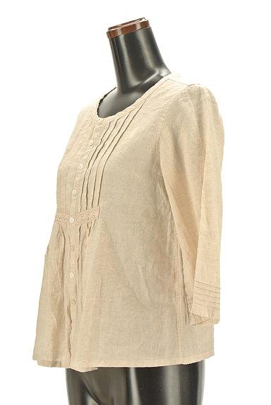 CUBE SUGAR(キューブシュガー)の古着「ナチュラル7分袖ブラウスシャツ(カジュアルシャツ)」大画像3へ