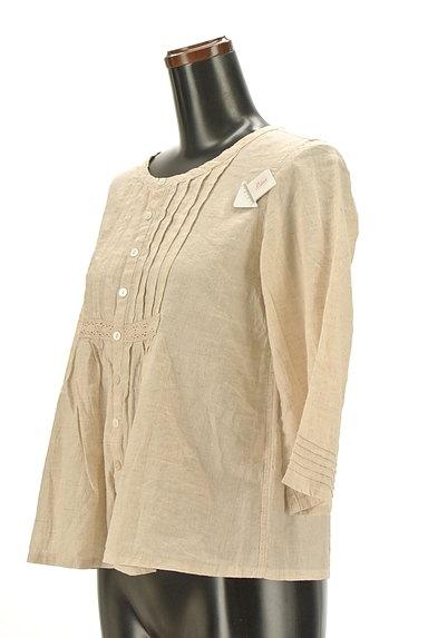 CUBE SUGAR(キューブシュガー)の古着「ナチュラル7分袖ブラウスシャツ(カジュアルシャツ)」大画像4へ