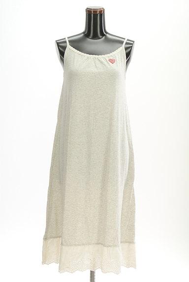 CUBE SUGAR(キューブシュガー)の古着「裾レースキャミマキシワンピース(キャミワンピース)」大画像1へ