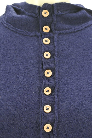 CUBE SUGAR(キューブシュガー)の古着「ウッドボタンニットパーカー(ニット)」大画像4へ