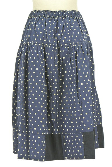 CUBE SUGAR(キューブシュガー)の古着「ドット柄膝下丈フレアスカート(スカート)」大画像2へ
