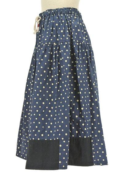 CUBE SUGAR(キューブシュガー)の古着「ドット柄膝下丈フレアスカート(スカート)」大画像3へ