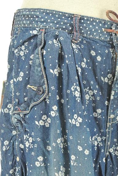 CUBE SUGAR(キューブシュガー)の古着「小花柄ダンガリーワイドパンツ(パンツ)」大画像4へ