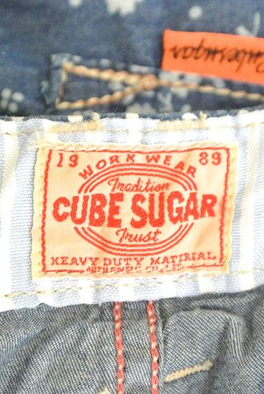 CUBE SUGAR(キューブシュガー)の古着「小花柄ダンガリーワイドパンツ(パンツ)」大画像6へ