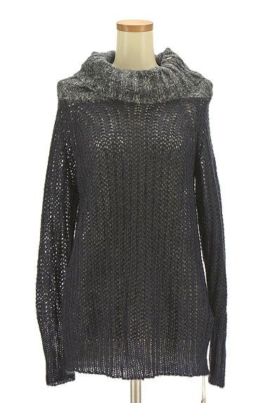 CUBE SUGAR(キューブシュガー)の古着「タートルネックロングローゲージニット(セーター)」大画像1へ