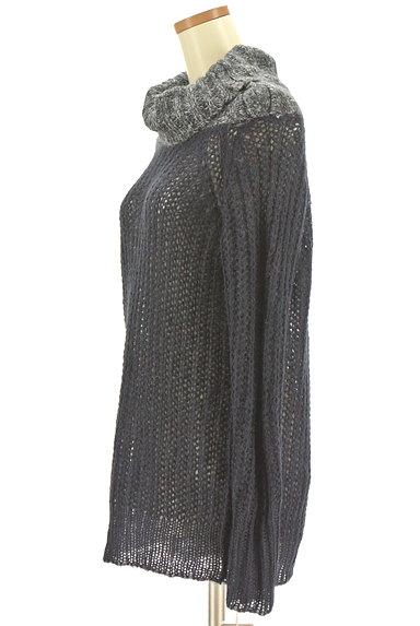 CUBE SUGAR(キューブシュガー)の古着「タートルネックロングローゲージニット(セーター)」大画像3へ