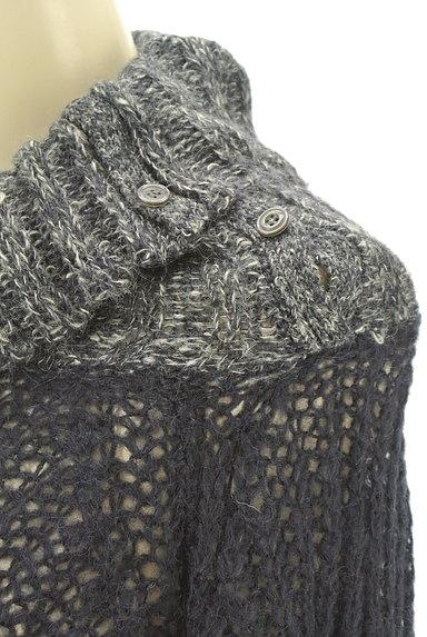 CUBE SUGAR(キューブシュガー)の古着「タートルネックロングローゲージニット(セーター)」大画像4へ
