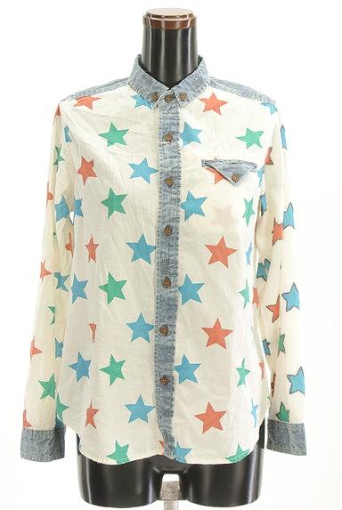 CUBE SUGAR(キューブシュガー)の古着「スター柄カジュアルシャツ(カジュアルシャツ)」大画像1へ