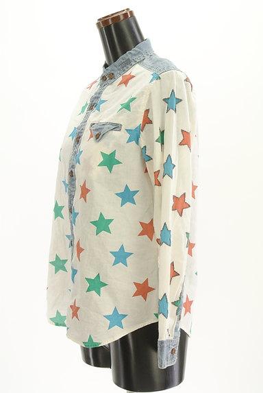 CUBE SUGAR(キューブシュガー)の古着「スター柄カジュアルシャツ(カジュアルシャツ)」大画像3へ