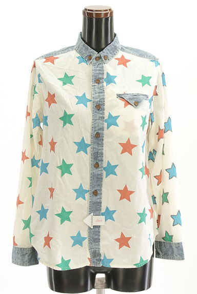 CUBE SUGAR(キューブシュガー)の古着「スター柄カジュアルシャツ(カジュアルシャツ)」大画像4へ
