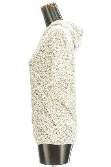 CUBE SUGAR(キューブシュガー)の古着「小花柄フード付きカーディガン(カットソー・プルオーバー)」大画像3へ