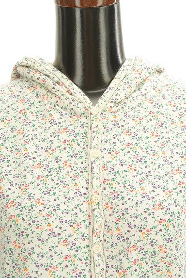 CUBE SUGAR(キューブシュガー)の古着「小花柄フード付きカーディガン(カットソー・プルオーバー)」大画像4へ
