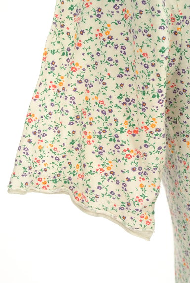 CUBE SUGAR(キューブシュガー)の古着「小花柄フード付きカーディガン(カットソー・プルオーバー)」大画像5へ