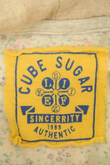 CUBE SUGAR(キューブシュガー)の古着「小花柄フード付きカーディガン(カットソー・プルオーバー)」大画像6へ