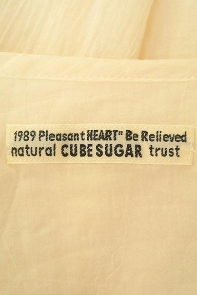 CUBE SUGAR(キューブシュガー)の古着「花刺繍7分袖ノーカラーシャツ(カジュアルシャツ)」大画像6へ