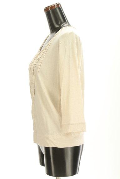 CUBE SUGAR(キューブシュガー)の古着「フリルピンタック7分袖カットソー(カットソー・プルオーバー)」大画像3へ
