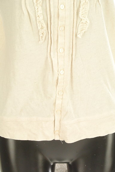 CUBE SUGAR(キューブシュガー)の古着「フリルピンタック7分袖カットソー(カットソー・プルオーバー)」大画像5へ