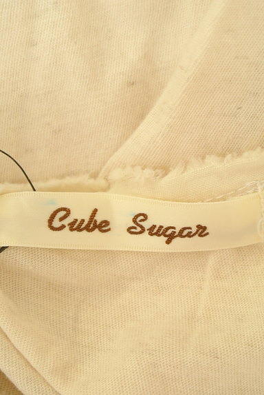 CUBE SUGAR(キューブシュガー)の古着「フリルピンタック7分袖カットソー(カットソー・プルオーバー)」大画像6へ