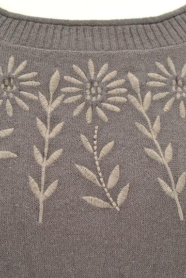 SM2(サマンサモスモス)の古着「ひまわり刺繍ワイドニット(ニット)」大画像4へ