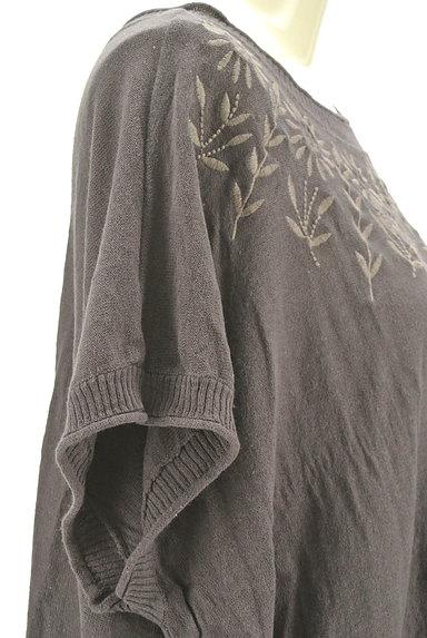 SM2(サマンサモスモス)の古着「ひまわり刺繍ワイドニット(ニット)」大画像5へ
