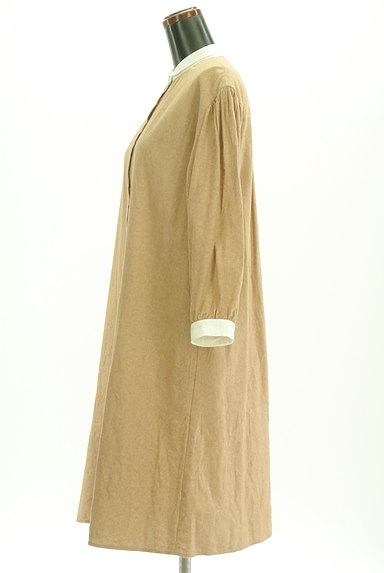 SM2(サマンサモスモス)の古着「バイカラー衿起毛ワンピース(ワンピース・チュニック)」大画像3へ