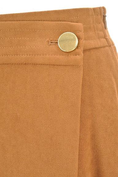 NATURAL BEAUTY BASIC(ナチュラルビューティベーシック)の古着「スエード調ミモレ丈ラップスカート(ロングスカート・マキシスカート)」大画像4へ