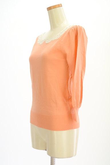 anatelier(アナトリエ)の古着「刺繍&パール襟7分袖ニット(ニット)」大画像3へ