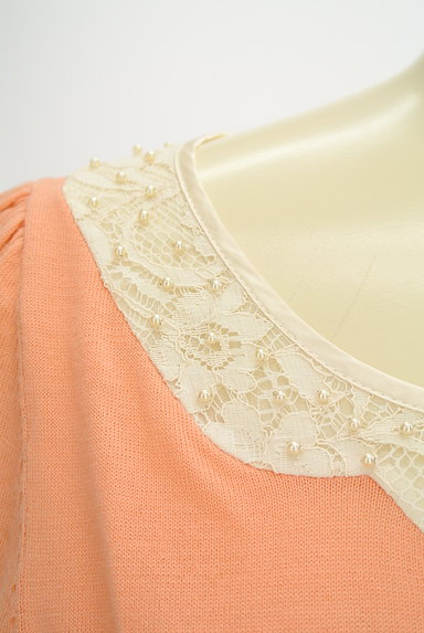 anatelier(アナトリエ)の古着「刺繍&パール襟7分袖ニット(ニット)」大画像4へ