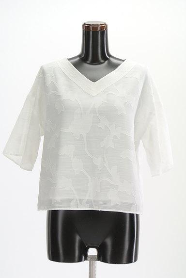 Te chichi(テチチ)の古着「ボタニカル柄五分袖ブラウス(カットソー・プルオーバー)」大画像1へ