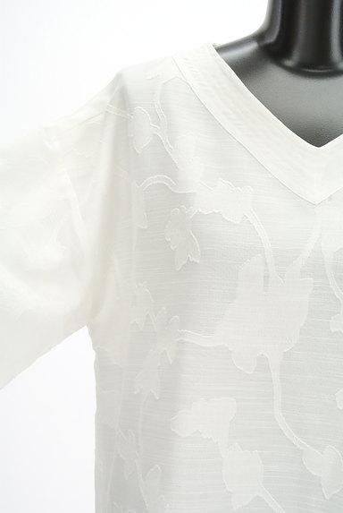 Te chichi(テチチ)の古着「ボタニカル柄五分袖ブラウス(カットソー・プルオーバー)」大画像4へ