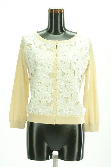 anatelier(アナトリエ)の古着「フロント刺繍レースカーディガン(カーディガン・ボレロ)」大画像1へ