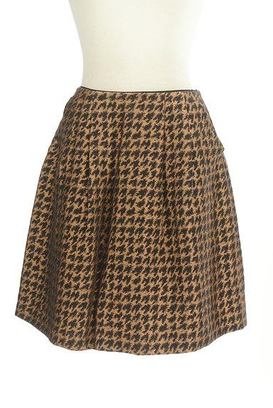 Te chichi(テチチ)の古着「ゴールド千鳥柄タックスカート(スカート)」大画像1へ