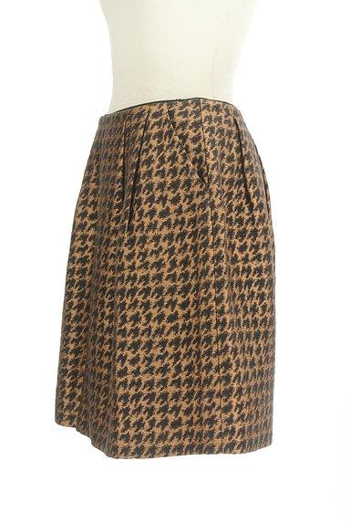 Te chichi(テチチ)の古着「ゴールド千鳥柄タックスカート(スカート)」大画像3へ