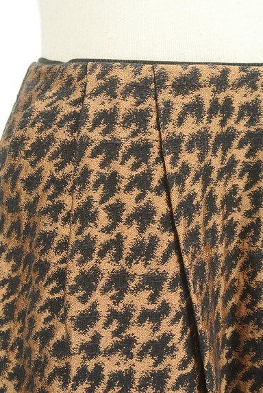 Te chichi(テチチ)の古着「ゴールド千鳥柄タックスカート(スカート)」大画像4へ