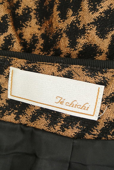 Te chichi(テチチ)の古着「ゴールド千鳥柄タックスカート(スカート)」大画像6へ