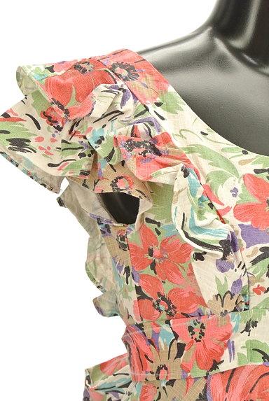 deicy(デイシー)の古着「バックリボンフレア袖花柄ワンピ(ワンピース・チュニック)」大画像4へ