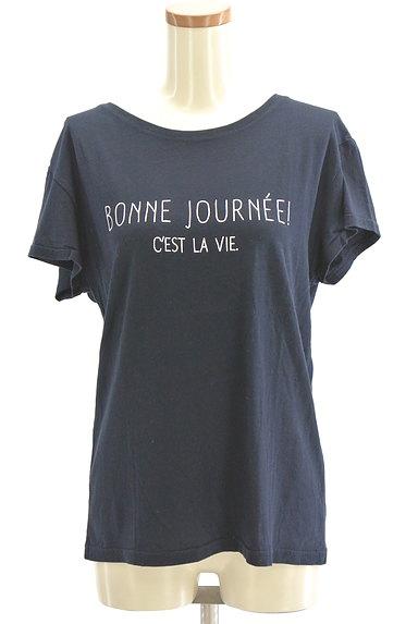 Stola.(ストラ)の古着「ボートネック半袖ロゴTシャツ(Tシャツ)」大画像1へ
