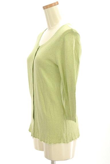 SM2(サマンサモスモス)の古着「スカラップレース7分袖カーディガン(カーディガン・ボレロ)」大画像3へ