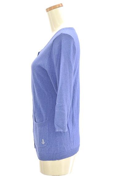 SM2(サマンサモスモス)の古着「マリン刺繍7分袖カーディガン(カーディガン・ボレロ)」大画像3へ