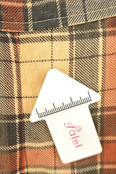 KarL Park Lane(カールパークレーン)の古着「シフォンチェック柄ガウチョパンツ(パンツ)」大画像5へ