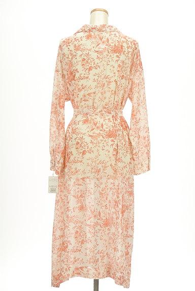 STRAWBERRY-FIELDS(ストロベリーフィールズ)の古着「こすれ花柄ロングシャツワンピース(ワンピース・チュニック)」大画像2へ