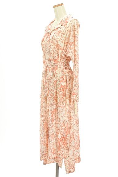 STRAWBERRY-FIELDS(ストロベリーフィールズ)の古着「こすれ花柄ロングシャツワンピース(ワンピース・チュニック)」大画像3へ
