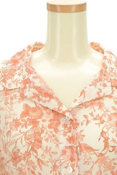 STRAWBERRY-FIELDS(ストロベリーフィールズ)の古着「こすれ花柄ロングシャツワンピース(ワンピース・チュニック)」大画像4へ
